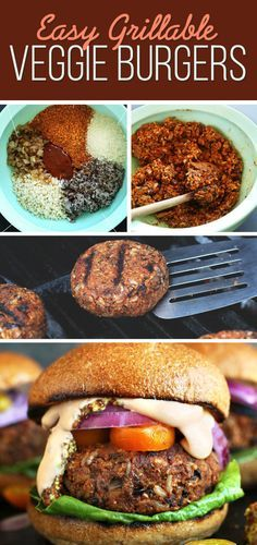 Easy Grillable Veggie Burgers | 7 Easy Dinners To Make This Week