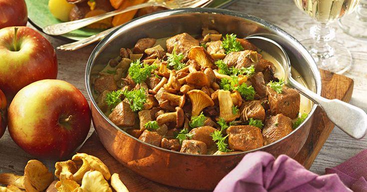 Recept kycklinggryta med bacon och kantareller