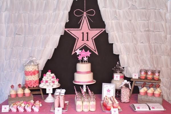 Under the Stars Birthday Party via Karas Party Ideas   KarasPartyIdeas.com #star #sparkle #stars #tween #teen #pink #girl #birthday #party #ideas (1)