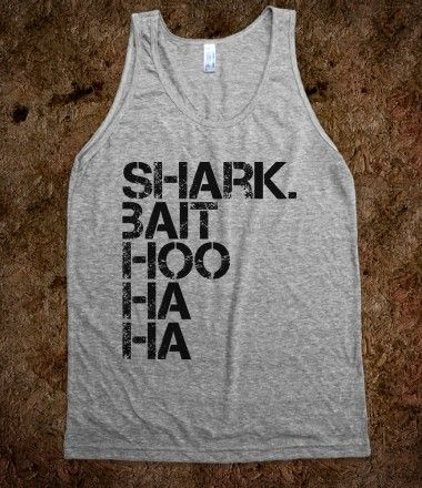 shark bait ! finding nemo shirt. I'm gonna try to do it with a bleach pen!