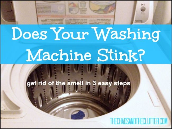 Does Your Washing Machine Stink? How to get rid of the smell in just three easy steps