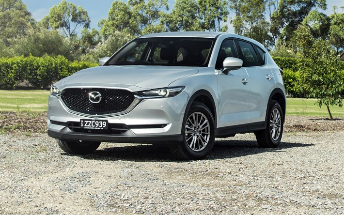 Download wallpapers Mazda CX-5 Touring, 2017 cars, crossovers, new CX-5, japanese cars, Mazda
