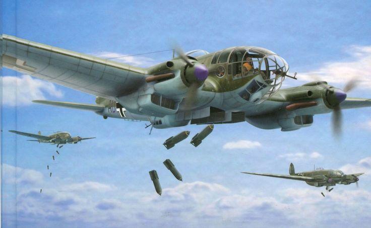 Heinkel He 111 Bomber Heinkel He 111   Flyin...