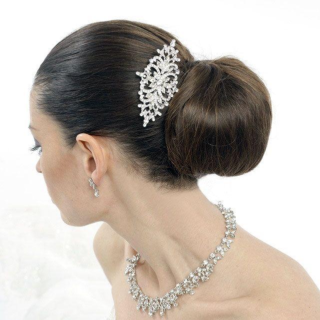 Vintage Crystal Bridal Comb - Darcy