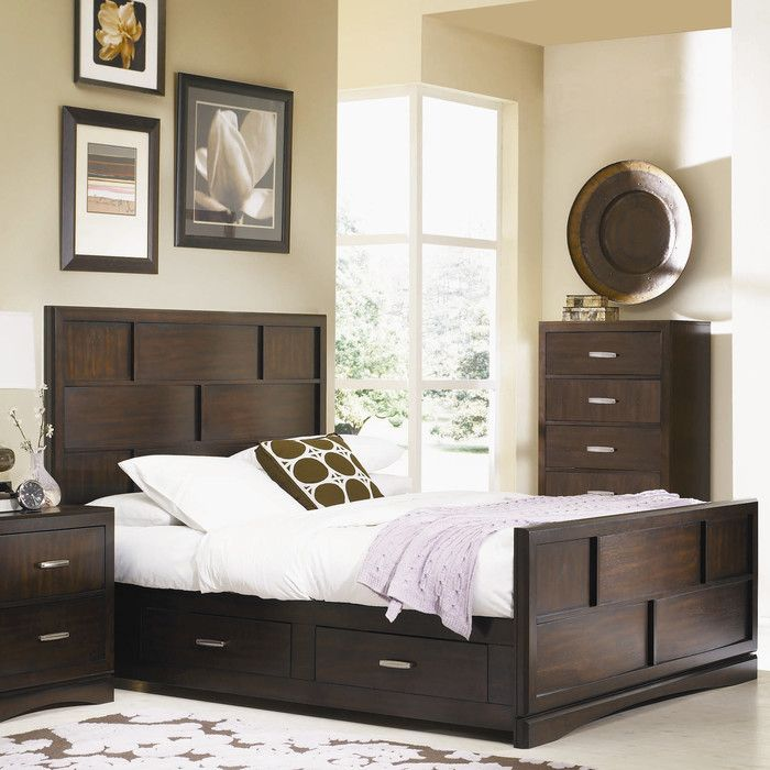 Najarian Furniture Key West Storage Panel Bed & Reviews | Wayfair