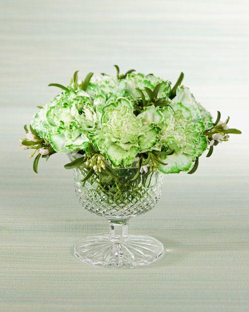 oeillets blancs teints en vert grce du colorant alimentaire ajout leau et - Colorant Eau Vase