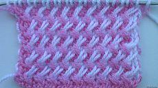 Dvoubarevná vzor šikmého závěsu - 15 listopadu 2013 - Video lekce na pletení a šití Natalia Zaitseva