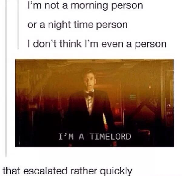 I'm a Time Lord. and he is a hot time lord.....oh david tennant