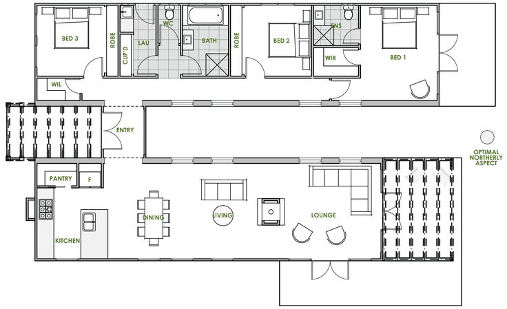 The Burke offers the very best in energy efficient home design from Green Homes Australia. Take a look at the floor plan here.