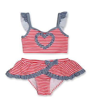 Another great find on #zulily! Red & White Born In the USA Bikini - Toddler & Girls by Penelope Mack #zulilyfinds