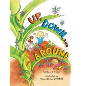 Book, Up, Down and Around by Katherine Ayres / Vegetables, Vv