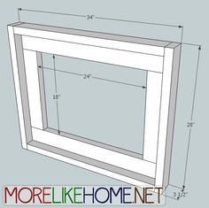 More Like Home: Day 21 - Build a Simple Frame (three ways!)