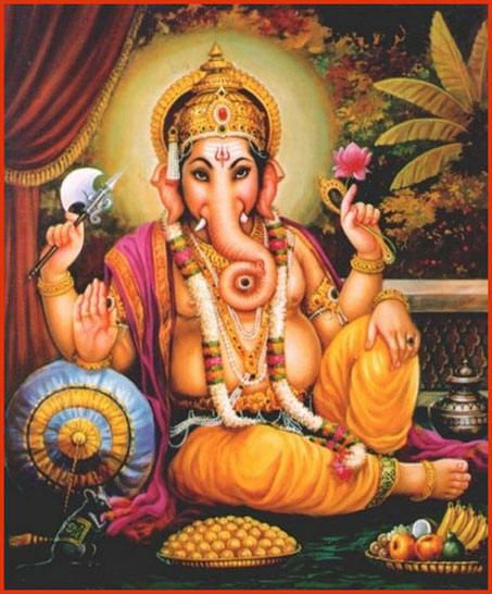 In Hindu mythology this elephant headed god was the god of success and wealth, learning, etc, named Ganesh. He has the always helpful tendency to remove obstacles, making him pretty popular in Hinduism.