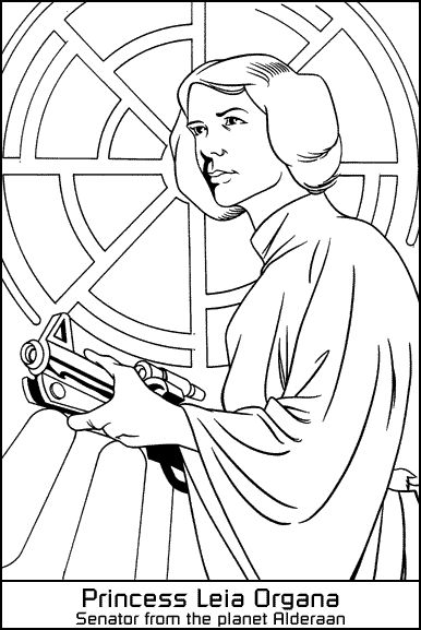 star wars coloring pages leia - photo#4