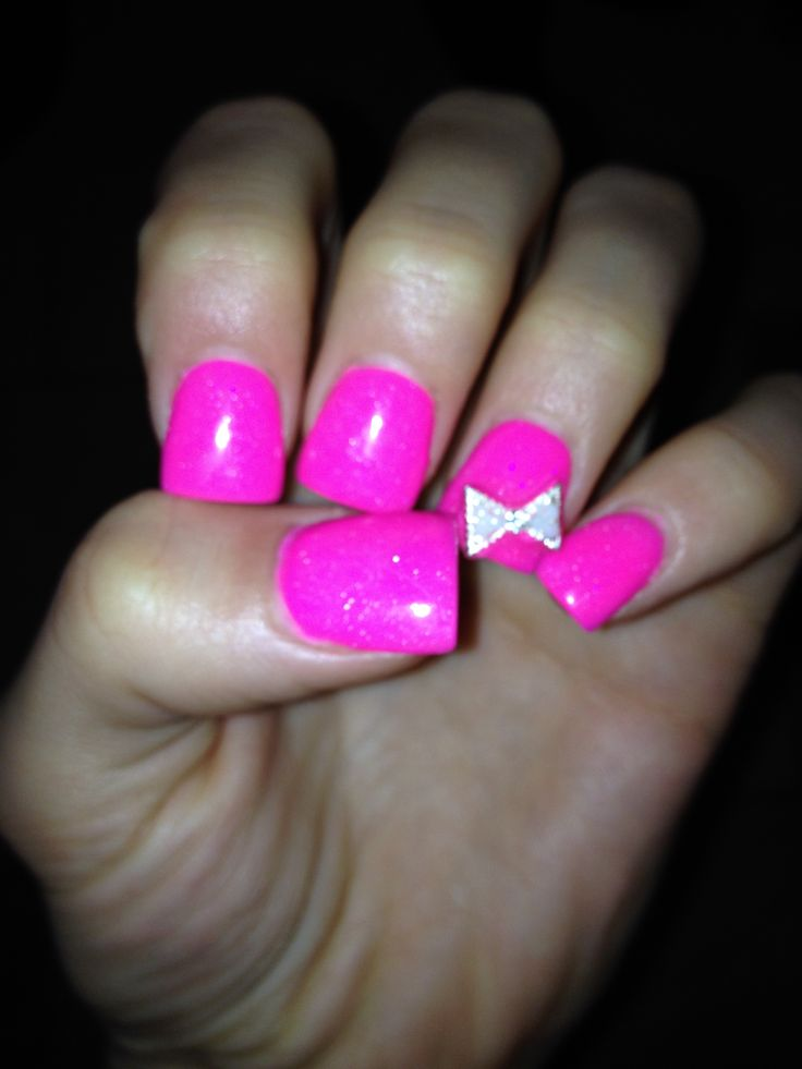 Powdered Gel Nails Design Vj Nails In Calgary Alberta: Gel Pink Powder Nails With Bow Amazing Style!!:)