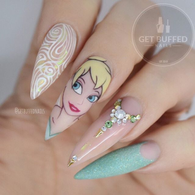 482 best Disney Nails images on Pinterest