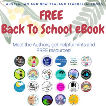 Over 20 Australian and New Zealand teacher authors have come together to offer you some of the best Down Under content for your 2018 Back to School planning. Each seller has provided a free resource, tips for 2018 and recommendations for resources we know you will love. Meet the authors, get helpful hints and free resources!