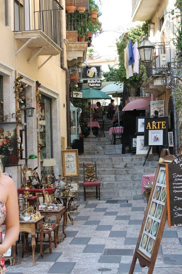 Taormina Sicily ... I've been here and what a charming place #sicily