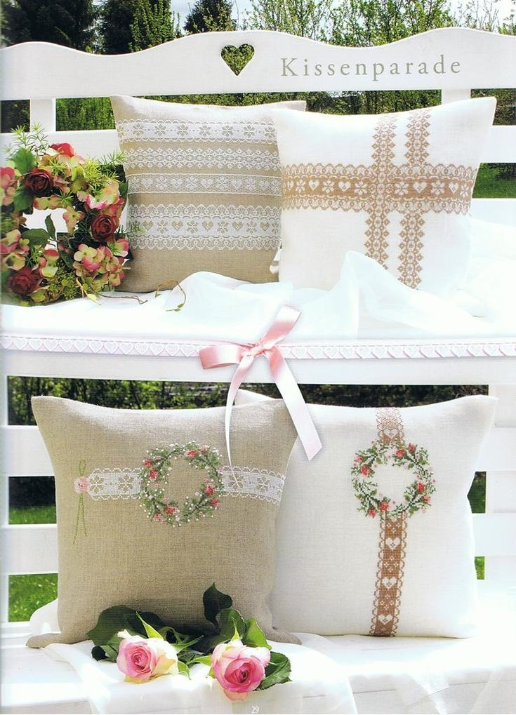 Pillows with borders