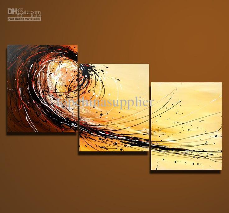 Wholesale art modern abstract oil painting multiple piece canvas art sets 3 pieces cool artwork 50x60cm