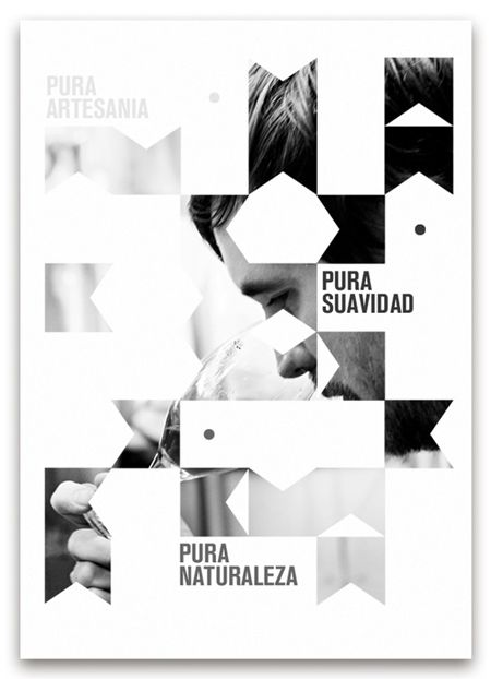 Promotional poster - cool design that can be re-tooled, love the use of black & white