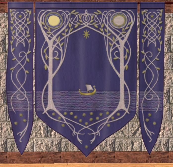 Rivendell tapestry seen in Arwen's room.  I am set on making something like this for my room.