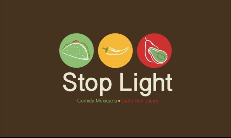 Propuesta de logotipo para la empresa Stop Light. Restaurante de comida mexicana ubicado en Cabo San Lucas y dirigido principalmente a extranjeros. Julio 2015