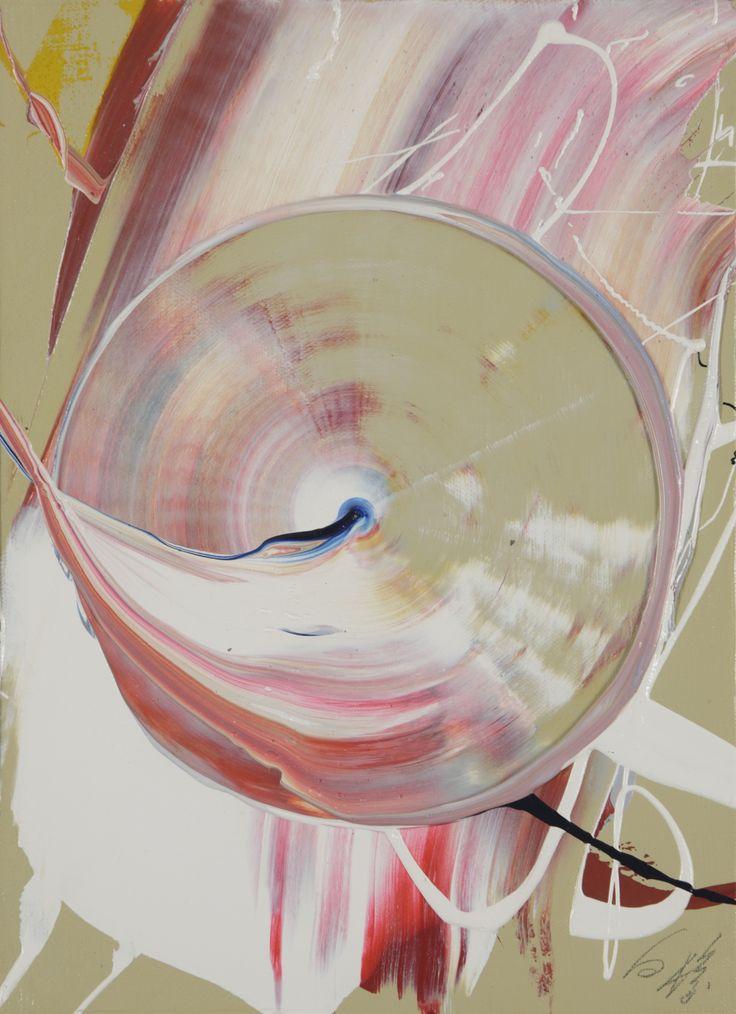 Kazuo Shiraga (1924 – 2008) Kasuminova 1976 Oil on canvas 33 x 24 cm.