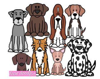 Cane del Pug di Clip Set Ar arte digitale di Pug Pug