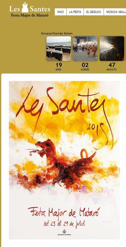 Web oficial de Les Santes. Tot, tot i tot sobre la festa.