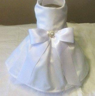 Handmade Satin Dog Wedding Dress