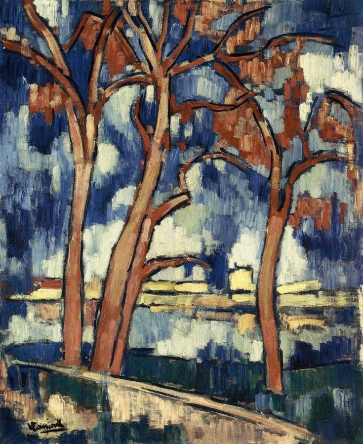 MAURICE DE VLAMINCK  Landscape with Red Trees Chatou (c.1907)