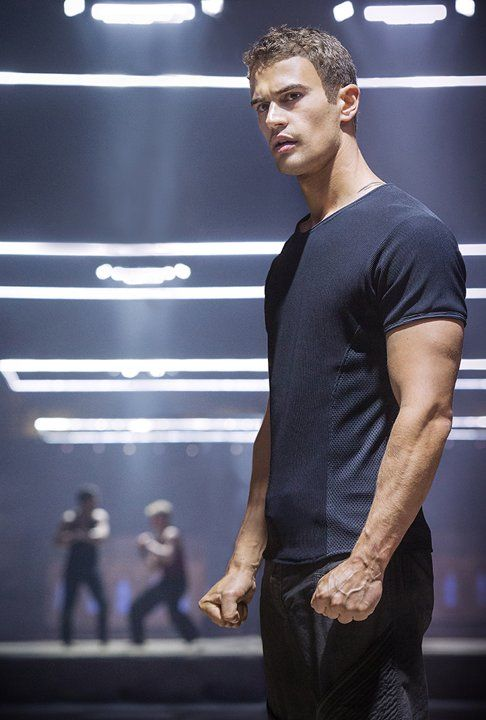 First still of Theo James in #Divergent does that look like a tattoo on back of neck? I think it is hehe!