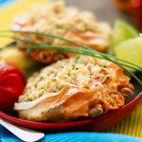 Découvrez la recette crabes farcis au gratin sur Cuisine-actuelle.fr.