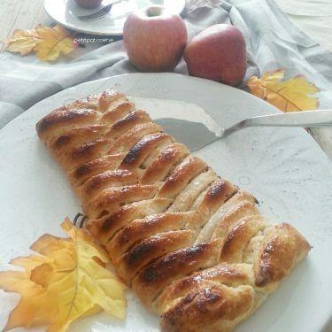 Treccia di sfoglia con mele e cannella {con video ricetta}