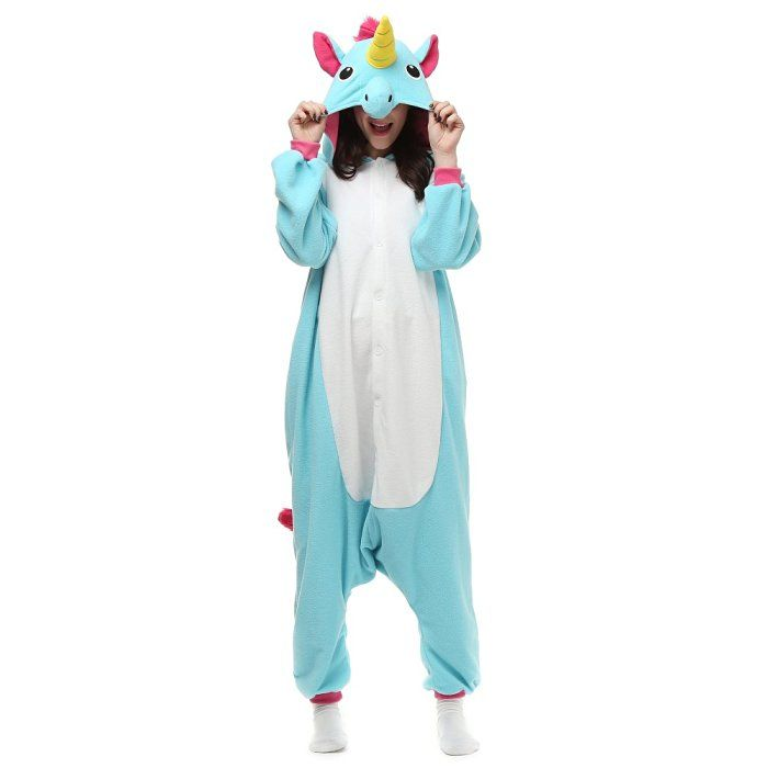 Blue Unicorn Onesie (Adult Small)