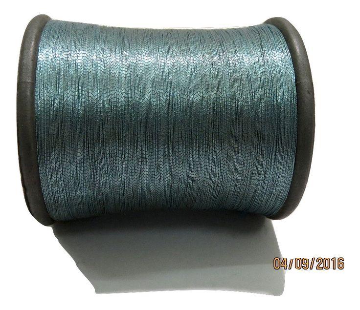 1 Spool Metallic Steel Grey Embroidery Thread, Hand/Machine Embroidery Thread…