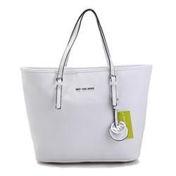Michael Kors Jet Set Macbook Travel Large White Totes
