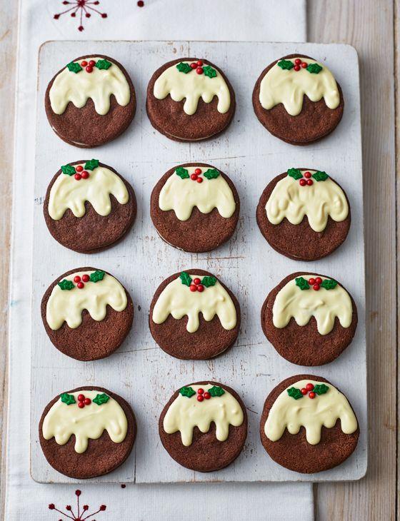 Christmas pudding mint 'Oreos' - Sainsbury's Magazine