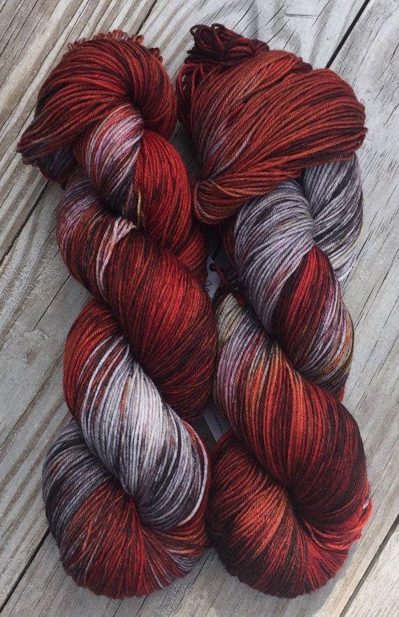 Hot Mess Hand Dyed Superwash Merino and Nylon by BlackCatFibersLLC