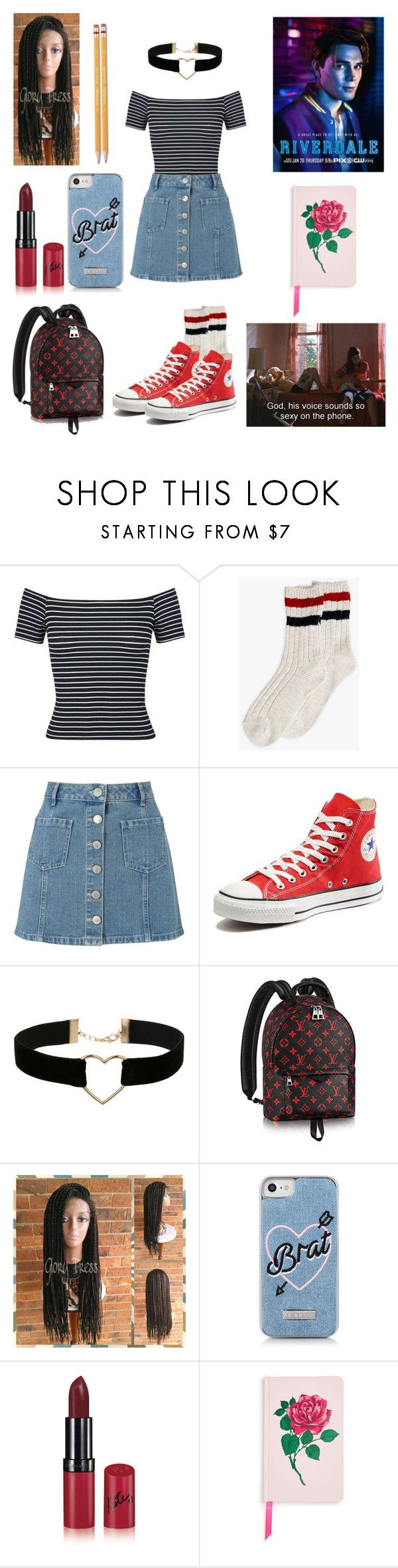"""""""Meeting Archie Andrews [Riverdale]"""" by aurejuanbaston ❤ liked on Polyvore featuring Miss Selfridge, Converse, Rimmel, ban.do and Paper Mate"""