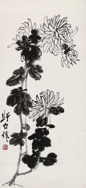 Painted by Lou Shibai (娄师白, 1918-2010)