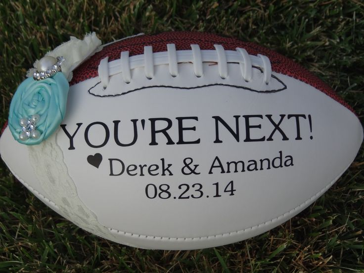 Football Garter Toss by TwoSweetharts on Etsy https://www.etsy.com/listing/193096255/football-garter-toss