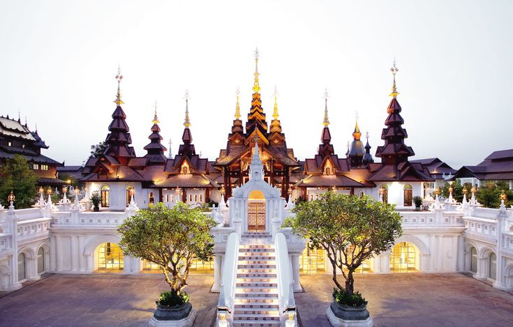 The Dhara Dhevi Chiang Mai Chiang Mai, Thailand Architecture Cultural Grounds Luxury Resort sky building landmark plaza place of worship palace wat temple