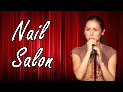 If you ever get your nails done, you gotta watch. So funny!!    Anjelah Johnson - Nail Salon (Stand Up Comedy) - YouTube