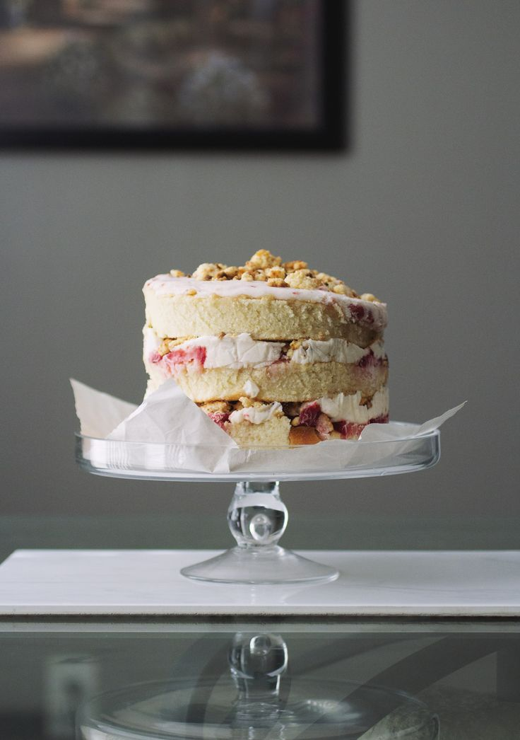 Strawberry Momofuku Cake // The Pancake Princess ... I would use an RLB buttercream, but other than that...