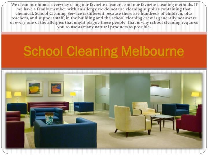 Try this site http://www.sparkleoffice.com.au/School-Cleaning-Service.html for more information on school cleaning Melbourne. One of the perennial headaches of many head teachers or school governors is keeping down the litter and making sure the school looks clean and tidy, both on the inside and the outside. With hundreds or rowdy and messy children around with a penchant for potato crisps and confectionery - this can be an uphill struggle. Therefore hire the best and the mos...