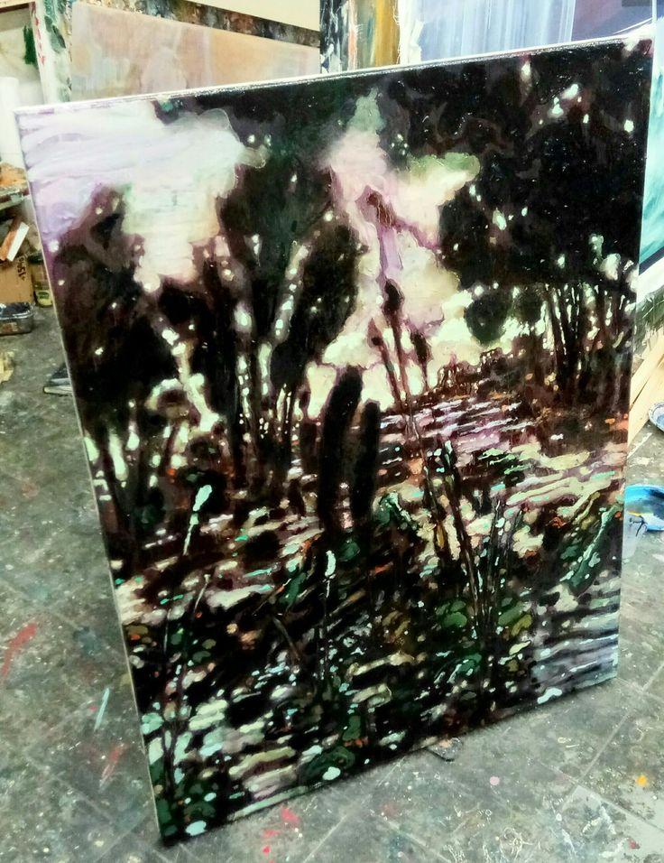 Sotto Roma c'è una palude di ricordi, olio su tela, 110x80 cm, 2017, Nicola Facchini