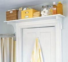 Bathroom Storage Ideas for Small Spaces - Above The Door Shelf - Click Pic for 42 DIY Bathroom Organization Ideas