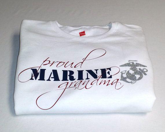 USMC Marine Corps Proud Grandma, Wife, Mom, Sister, Aunt Sweatshirt, Christmas Gift Ideas by HandmadeByLeeAnn on Etsy, $29.99